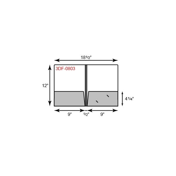 """9 1/2 x 12 Presentation Folders - 1/2"""" Triple Score Spine"""