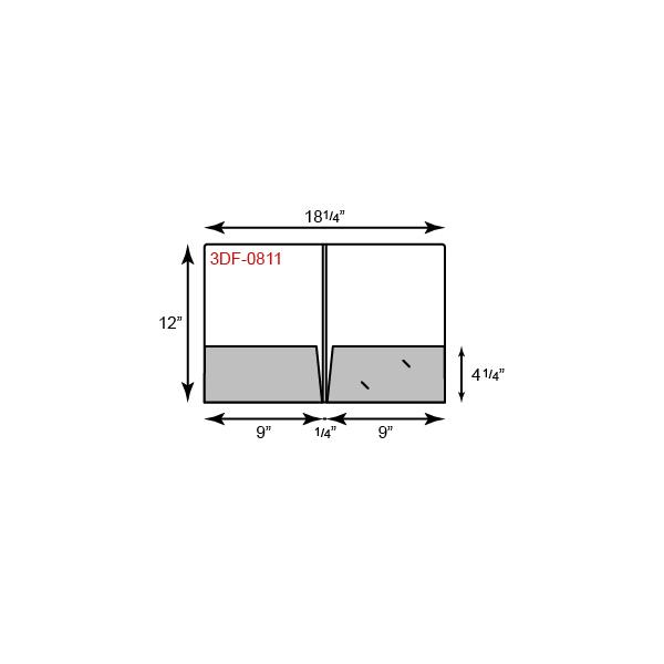 "9 1/2 x 12 Presentation Folders - 1/4"" Double Score Spine"