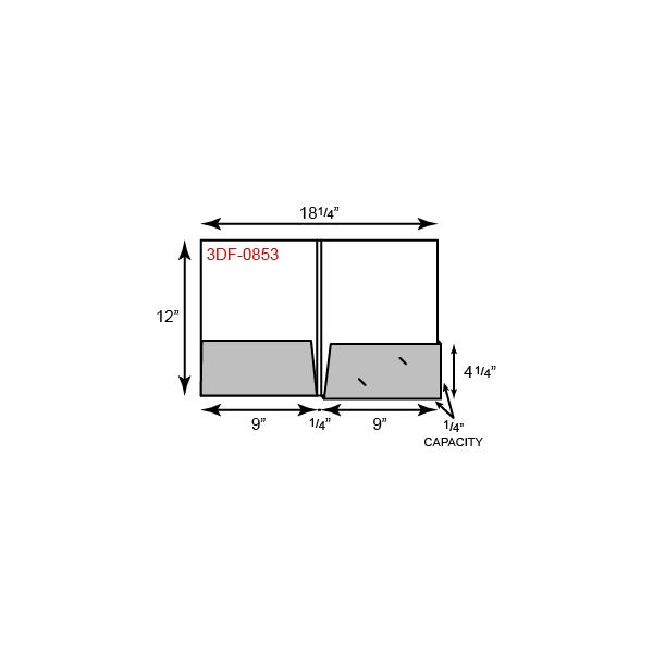 "9 1/2 x 12 Presentation Folders - 1/4"" Capacity Box Right Pocket and Double Score Spine"
