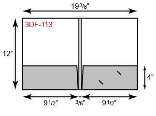 "9 1/2 x 12 Presentation Folders - 3/8"" Double Score Spine"