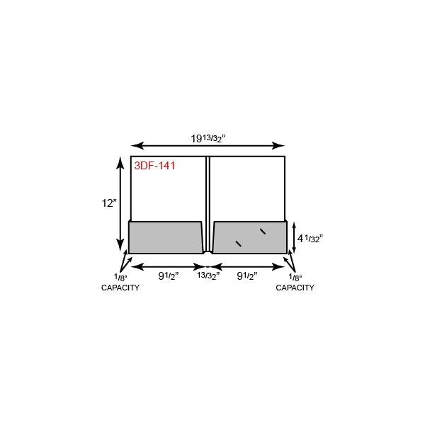 "9 1/2 x 12 Presentation Folders - 1/8"" Capacity Box Pockets and Double Score Spine"