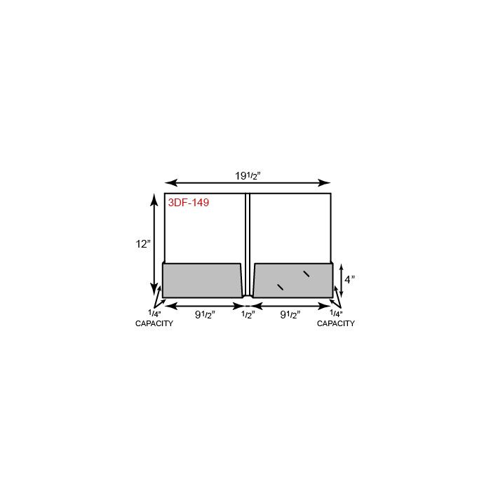 "9 1/2 x 12 Presentation Folders - 1/4"" Capacity Box Pockets and Double Score Spine"