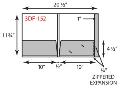 "10"" x 11 3/4 Presentation Folders"
