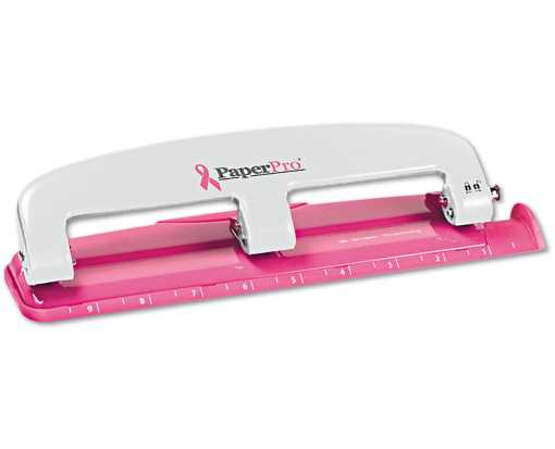 Incourage 3 Hole Puncher - 12 Sheet Capacity Pink