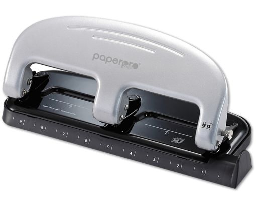Inpress 3 Hole Puncher - 20 Sheet Capacity Silver