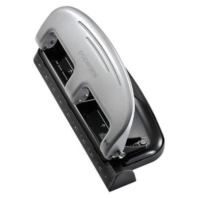 Inpress 3 Hole Puncher - 20 Sheet Capacity Silver