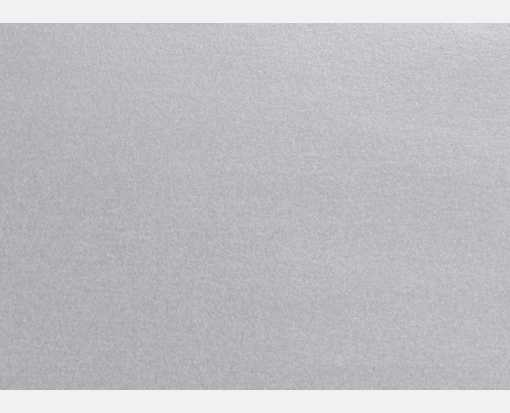 A1 Flat Card (3 1/2 x 4 7/8) Silver Metallic
