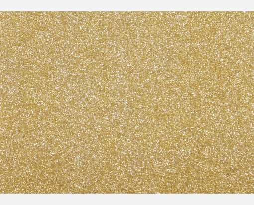 A1 Flat Card (3 1/2 x 4 7/8) Gold Sparkle