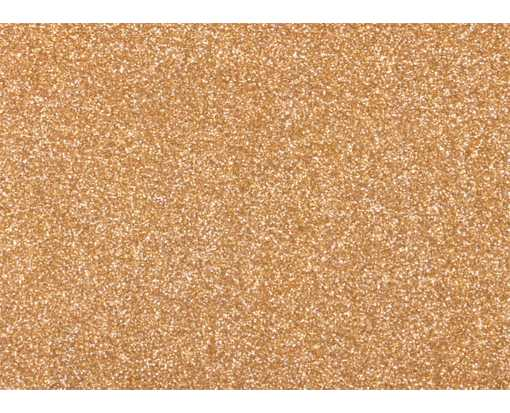 A1 Flat Card (3 1/2 x 4 7/8) Rose Gold Sparkle