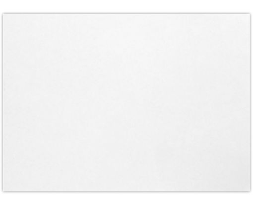 A1 Flat Card (3 1/2 x 4 7/8) Bright White - 100% Cotton