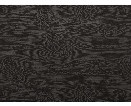 A2 Flat Card (4 1/4 x 5 1/2) Brasilia Black Woodgrain