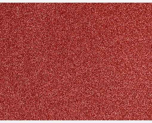 A2 Flat Card (4 1/4 x 5 1/2) Holiday Red Sparkle