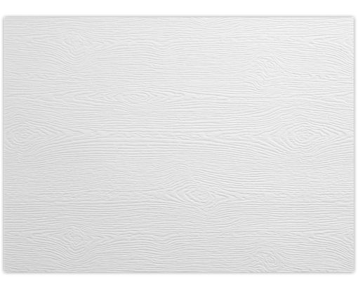 A2 Flat Card (4 1/4 x 5 1/2) White Birch Woodgrain