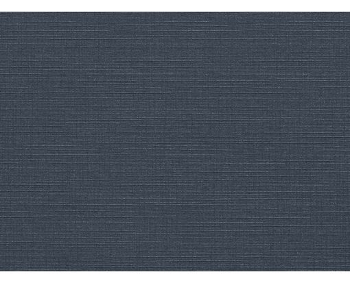 A6 Flat Card (4 5/8 x 6 1/4) Nautical Blue Linen
