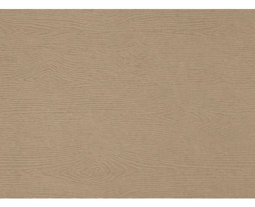 A6 Flat Card Oak Woodgrain