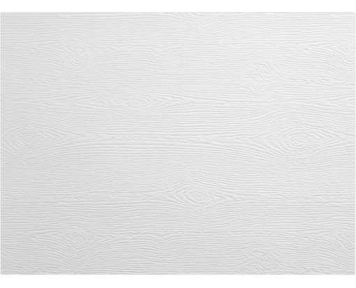 A6 Flat Card White Birch Woodgrain