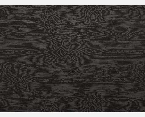 A6 Flat Card (4 5/8 x 6 1/4) Brasilia Black Woodgrain