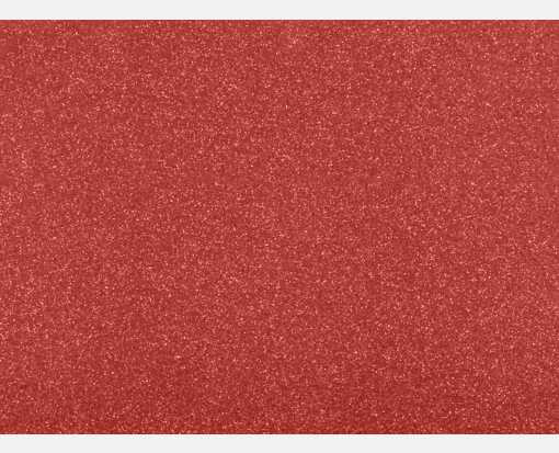 A6 Flat Card (4 5/8 x 6 1/4) Holiday Red Sparkle