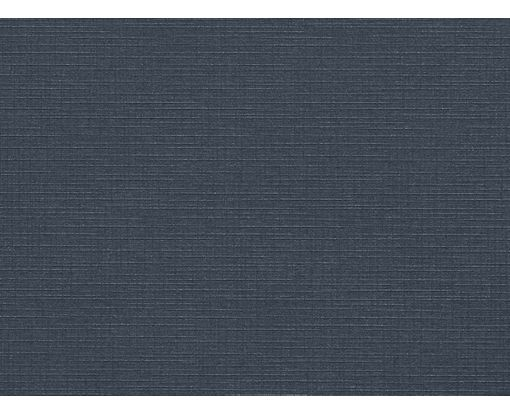 A7 Flat Card (5 1/8 x 7) Nautical Blue Linen