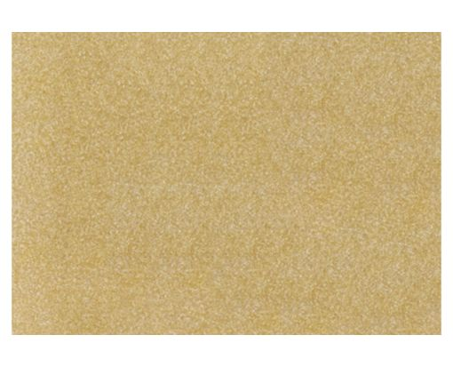 A7 Flat Card (5 1/8 x 7) Gold Sparkle