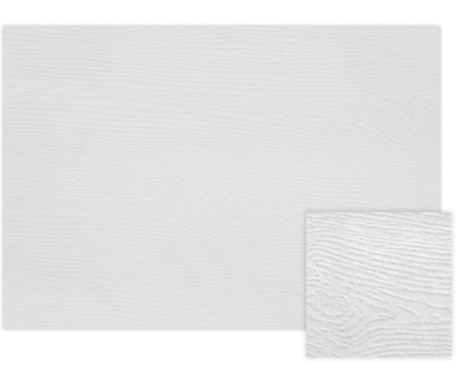 A7 Flat Card (5 1/8 x 7) White Birch Woodgrain