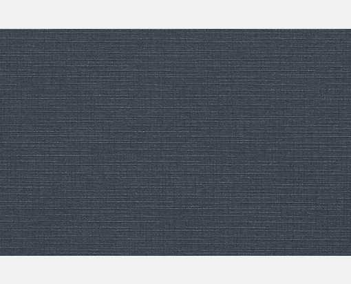 A9 Flat Card (5 1/2 x 8 1/2) Nautical Blue Linen