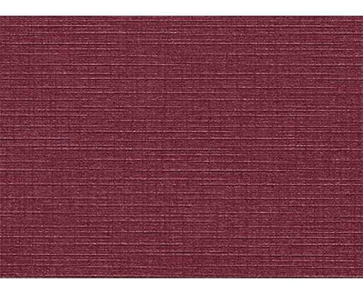 #17 Mini Flat Card (2 9/16 x 3 9/16) Burgundy Linen