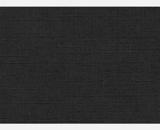 #17 Mini Flat Card (2 9/16 x 3 9/16) Black Linen