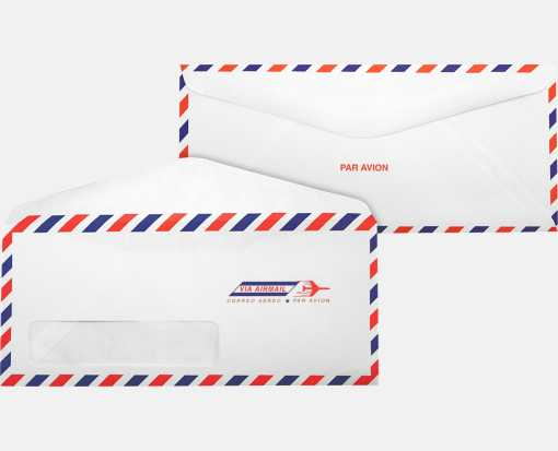 #10 Window Envelopes (4 1/8 x 9 1/2) Airmail