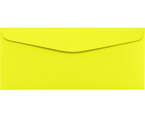 #10 Regular Envelopes (4 1/8 x 9 1/2) Electric Yellow