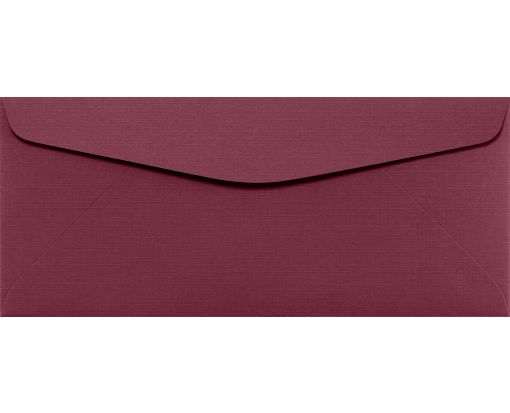 #10 Regular Envelopes (4 1/8 x 9 1/2) Burgundy Linen