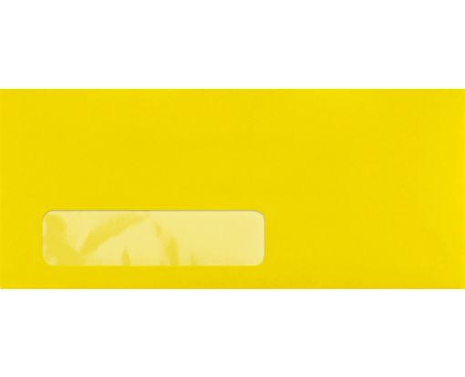 #10 Window Envelopes (4 1/8 x 9 1/2) Bright Canary