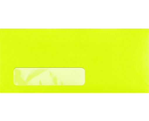 #10 Window Envelopes (4 1/8 x 9 1/2) Electric Green