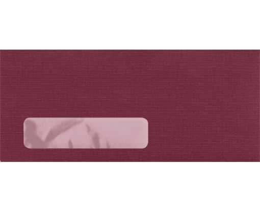 #10 Window Envelopes (4 1/8 x 9 1/2) Burgundy Linen