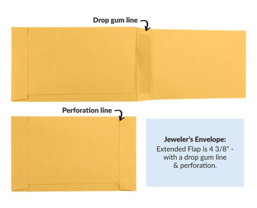 Jewelers/Coupon Envelope (3 5/8 x 6) 28lb. Brown Kraft
