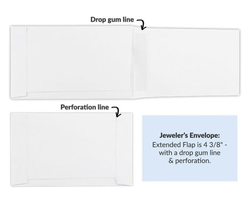 Jewelers/Coupon Envelope (3 5/8 x 6) 28lb. White