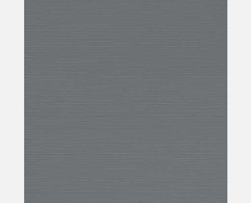 4 3/4 x 4 3/4 Square Flat Card Sterling Gray Linen