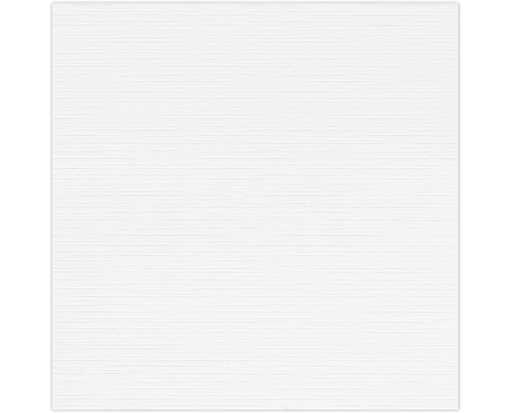 4 3/4 x 4 3/4 Square Flat Card White Linen