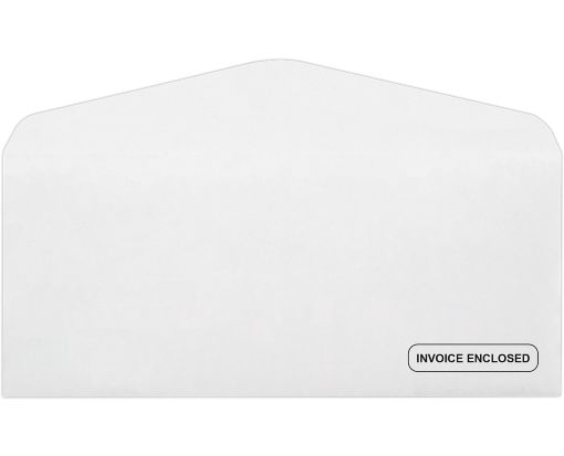 #10 Regular Envelopes (4 1/8 x 9 1/2) - Invoice Enclosed 24lb. Bright White - Invoice