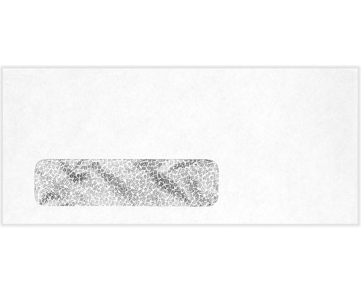 #10 Window Envelopes (4 1/8 x 9 1/2) 24lb. White w/ Security Tint