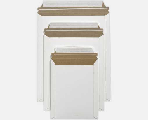 9 3/4 x 12 1/4 Paperboard Mailers White Paperboard