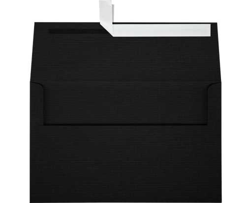A10 Invitation Envelopes (6 x 9 1/2) Black Linen