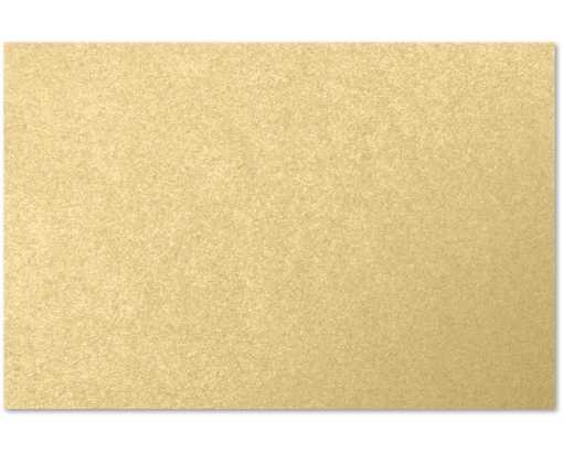 4 x 6 Flat Card Blonde Metallic