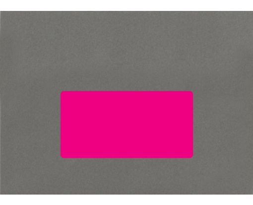 4 x 2 Rectangle Labels, 10 Per Sheet Fluorescent Pink