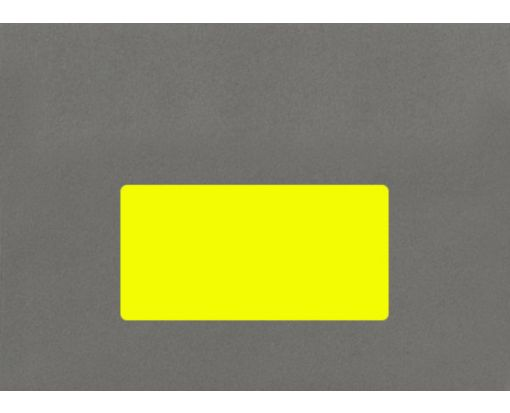 4 x 2 Rectangle Labels, 10 Per Sheet Fluorescent Yellow