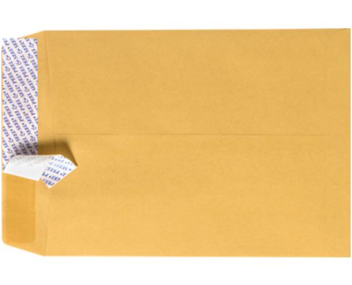 6 x 9 Open End Envelopes Brown Kraft w/ Peel & Seel®