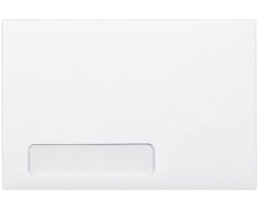 6 x 9 Laser Safe Booklet Window Envelopes 24lb. Bright White (Laser Safe)