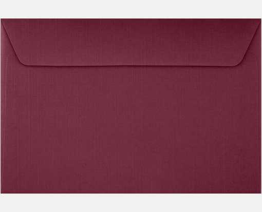 6 x 9 Booklet Envelopes Burgundy Linen