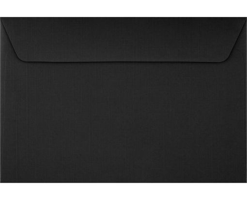 6 x 9 Booklet Envelopes Black Linen