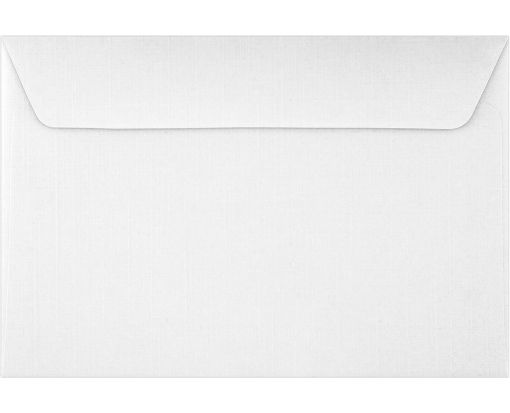 6 x 9 Booklet Envelopes White Linen